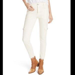 NWT Free People Utility Denim Skinny Jeans